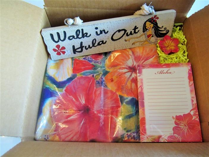 "island home - velvet (""hibiscus impression"")"